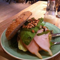 Photo taken at Bagels and Beans by Peter B. on 8/31/2014