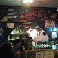 Photo taken at Mamoun's Falafel by Roland Y. on 4/15/2012