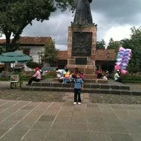 Photo taken at Plaza Gertrudis Bocanegra by Mau on 8/21/2012