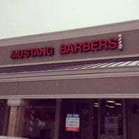 Photo taken at Mustang Barbers by Todd B. on 2/6/2014