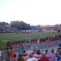 Photo taken at Clinton HS Football Field by Clayton H. on 8/29/2014