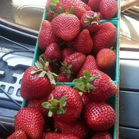 Photo taken at Seng Saelee's Seasonal Strawberry Stand by Kitty N. on 6/1/2014