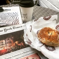 Photo taken at Davidovich Bagel Shop NYC by Lee S. on 1/3/2016