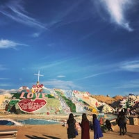 Photo taken at Salvation Mountain by Lee S. on 1/16/2017