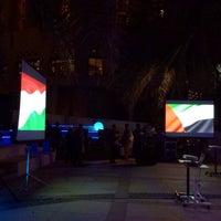 Photo taken at Sheraton Abu Dhabi Hotel & Resort by Mazuk T. on 3/13/2014