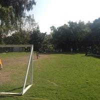 Photo taken at Pumitas C.U., Futbol A.C. by Areli R. on 10/20/2012
