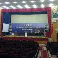 Photo taken at Tekirdağ BB Kültür Merkezi by Serkan G. on 2/16/2013