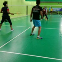 Photo taken at Champion Badminton Court by Amir A. on 8/4/2016