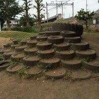 Photo taken at タイヤ公園 by suguru m. on 5/6/2015