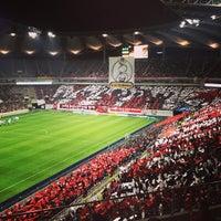 Photo taken at Seoul Worldcup Stadium by Masashi K. on 10/26/2013