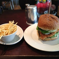 Photo taken at Gourmet Burger Kitchen (Cambridge) by Hussein H. on 10/10/2012