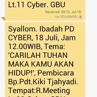 Photo taken at Gedung Cyber 1 (Elektrindo) by Lena F. on 7/18/2014