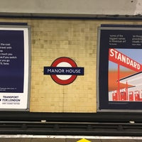 Photo taken at Manor House London Underground Station by Rafael B. on 3/30/2017