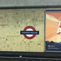 Photo taken at Manor House London Underground Station by Rafael B. on 12/14/2016