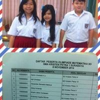 Photo taken at SMA Kristen Petra 1 by Rudi H. on 11/8/2014