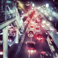 Photo taken at Halte TransJakarta Senayan JCC by Hosea T. on 12/14/2012