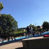 Photo taken at Gartenbad Bottmingen by Pawel D. on 8/7/2016