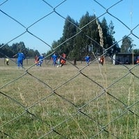 Photo taken at Cancha de futbol Huyar Alto by Loreto B. on 3/2/2014