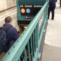 Photo taken at MTA Subway - 86th St (B/C) by Rob L. on 2/28/2013