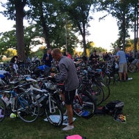 Photo taken at Chisago Lakes Half Iron Triathlon by Daddy F. on 7/27/2014
