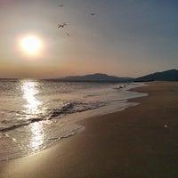 Photo taken at Playa de El Balneario by Jean-Francois L. on 7/9/2013