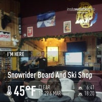 Photo taken at Snowrider Board And Ski Shop by Eric N. on 3/7/2013