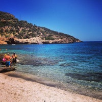 Photo taken at Limnionas Beach by Giannis A. on 7/13/2014