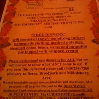 Photo taken at Eastland Inn Restaurant & Tavern by Jason K. on 11/8/2012