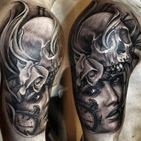 Photo taken at Life & Death Tattoos by Life & Death Tattoos on 2/10/2014