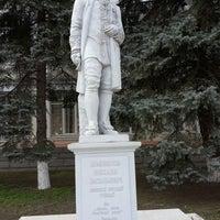 Photo taken at Памятник Ломоносову by Михаил Б. on 2/23/2014