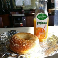 Photo taken at Manhattan Bagel by Christopher B. on 9/28/2014