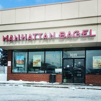 Photo taken at Manhattan Bagel by Christopher B. on 2/19/2015
