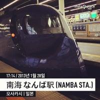 Photo taken at Nankai Namba Station (NK01) by Ryumi P. on 1/28/2013