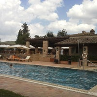 Photo taken at Borgo San Felice - Relais & Chateaux by Vincent V. on 8/10/2013