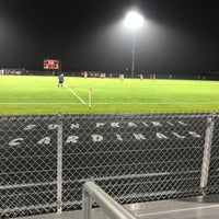 Photo taken at sun prairie high school soccer field by James T. on 10/13/2017
