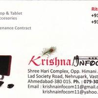 Photo taken at Krishna Infocom by Ritesh P. on 2/13/2014