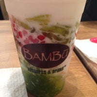 Photo taken at Bambū Desserts & Drinks by Tess C. on 1/28/2014