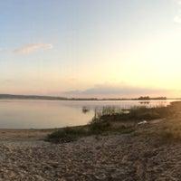 Photo taken at Пляж Волги by Aigul on 8/5/2014