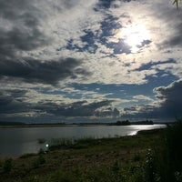 Photo taken at Пляж Волги by Aigul on 7/26/2014