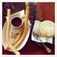 Photo taken at Chocolateria San Churro by J. T. on 3/7/2013