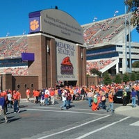 Photo taken at Frank Howard Field at Clemson Memorial Stadium by Christen C. on 10/20/2012