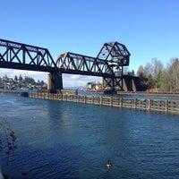Photo taken at Salmon Bay Bridge by Carla M. on 3/8/2013