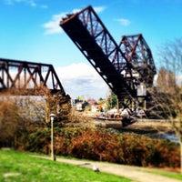 Photo taken at Salmon Bay Bridge by Carla M. on 3/28/2013