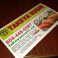 Photo taken at Takeya Sushi by Rob B. on 3/12/2013