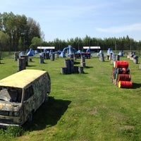 """Photo taken at Paintball park """"PIF PAF"""" by Peintbola parks """"PIF PAF"""" on 5/17/2014"""
