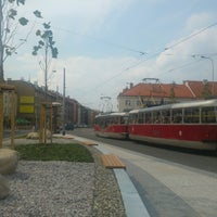 Photo taken at Průběžná (tram) by Petr M. on 9/2/2016