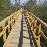 Photo taken at Bezdžionių tiltas by Kristina S. on 4/23/2014