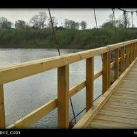 Photo taken at Bezdžionių tiltas by Kristina S. on 4/21/2014