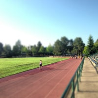 Photo taken at Campbell Community Center Track by Aki Y. on 5/3/2013