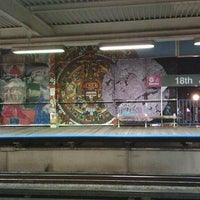 Photo taken at CTA - 18th by A. Non M. on 10/19/2012